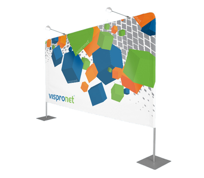 We recommend 2 lights for your Backdrop Banner Stand Display