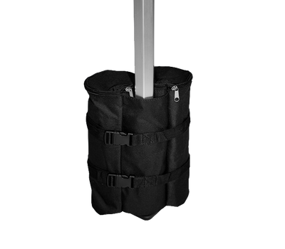 Adds an extra 24lbs of weight to provide tent or pavilion frame with additional security
