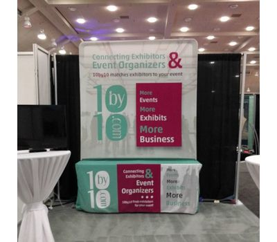 6ft Tall Table Backdrop Banner Stand Display for a customer