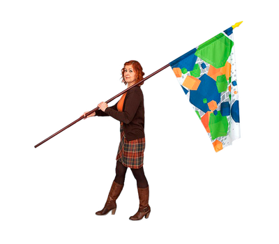 Pole sleeves allow you to place the flag onto the pole of your choice