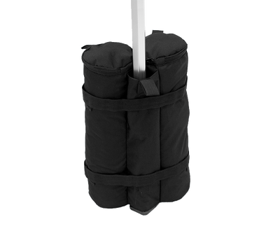 Securely wraps around tent leg to provide frame with extra 50 lbs of support