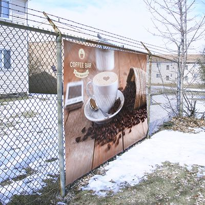 Fence Banners are a great way to advertise outdoors all year round