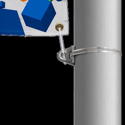 Street eyelet pole brackets ensure print is always visible