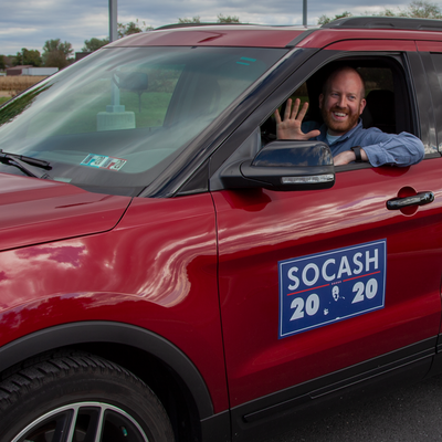 Company logos and political signs are the perfect subjects for car magnets
