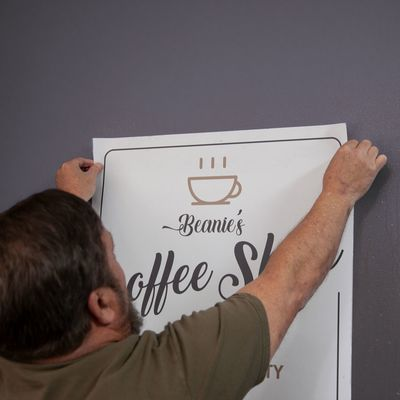 Wall decals should be placed over a clean surface