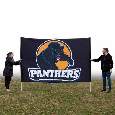 Sports run through banners