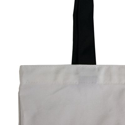 polyester tote bag with cotton handle