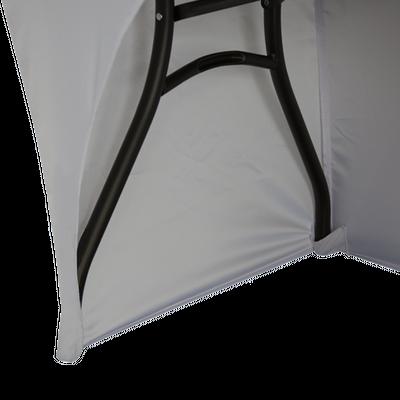 Table legs fit inside included hidden leg pockets