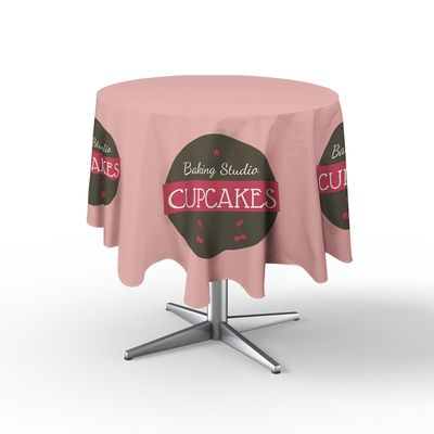 All Over Print Stain-Resistant Round Table Throw
