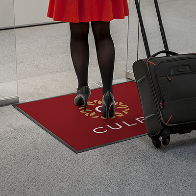 Be in in your customer's way and get noticed with floor mats