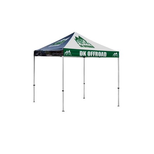 8.5' x 8.5' Compact pop up tent with all over print
