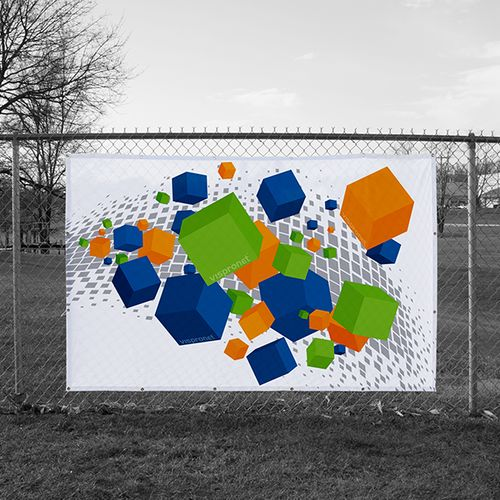 Fence Banner printed on Vinyl 12 oz. Mesh material