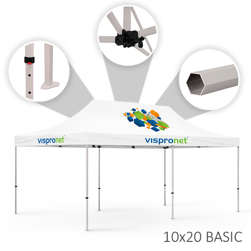 Our stock tent is offered in the Basic configuration