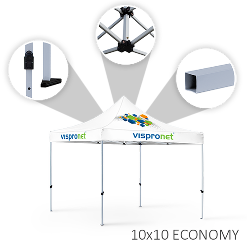 Our 10 x 20 stock event tent, offered in the Economy style