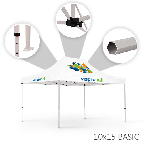 Our 10 x 15 tent offered in the Basic style