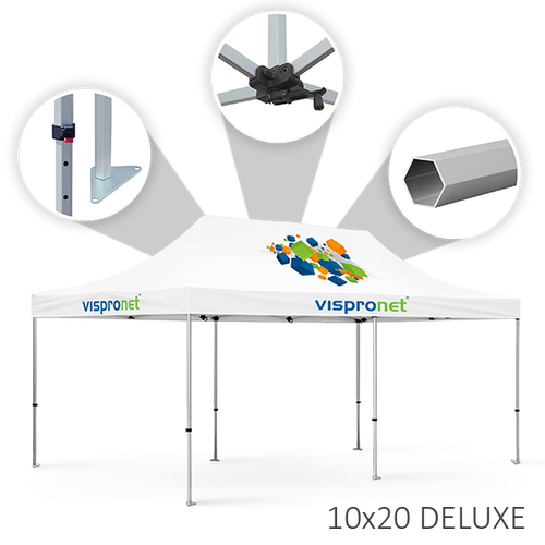 Tent offered in 10 x 20 Deluxe style