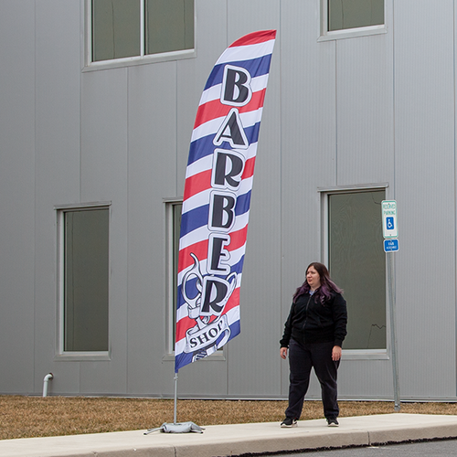 Feather flags are designed to enhance your outdoor advertising capabilities