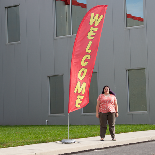 Boost your outdoor advertising with our feather flags