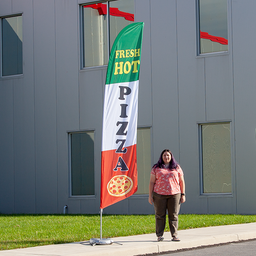 Pizza flags are a great way to advertise outside