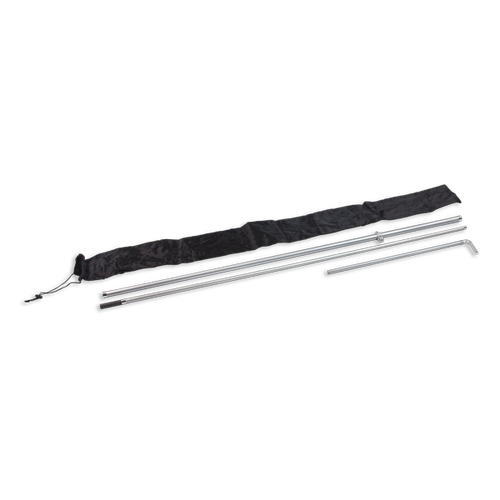 Pole sets come with durable aviation-grade fiberglass poles, clamp set and carry bag for storage