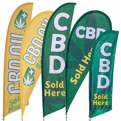 CBD Feather Flag Kit