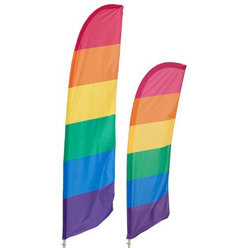 Rainbow Feather Flag Kit