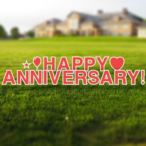 Happy Anniversary Yard Letters Set