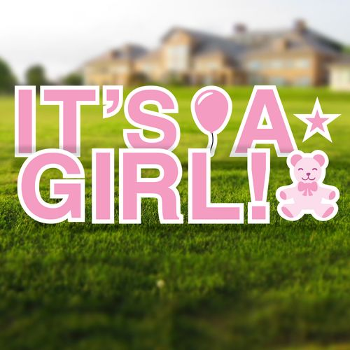 It's a Girl Yard Letters Set