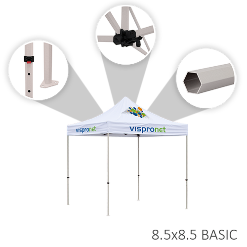 Features of the 8.5ft x 8.5ft tent frame