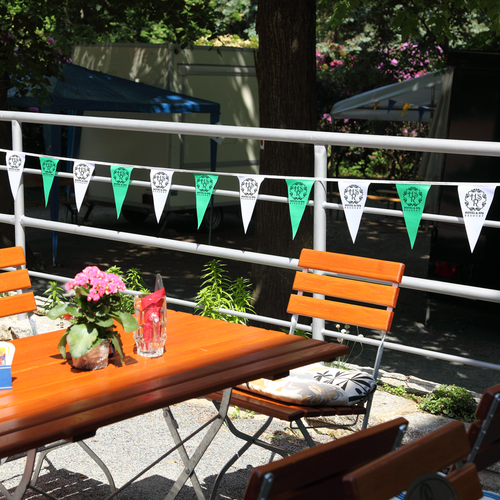 Pennants can be printed in different colors