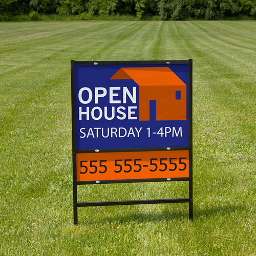 24in x 18in real estate signs can be ordered with rider (shown) or without