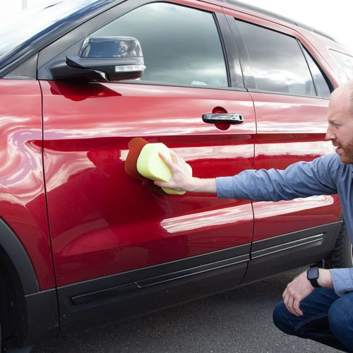 Make sure your car is clean before adding the magnet