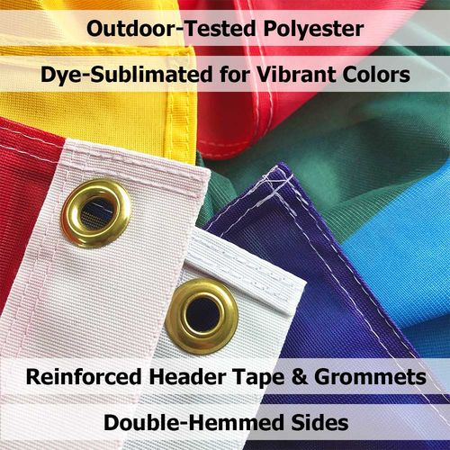 Details about the polyester flag finishing