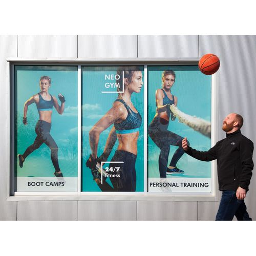 Perforated Window Vinyl for Gym