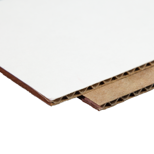 Example of kraft and white materials
