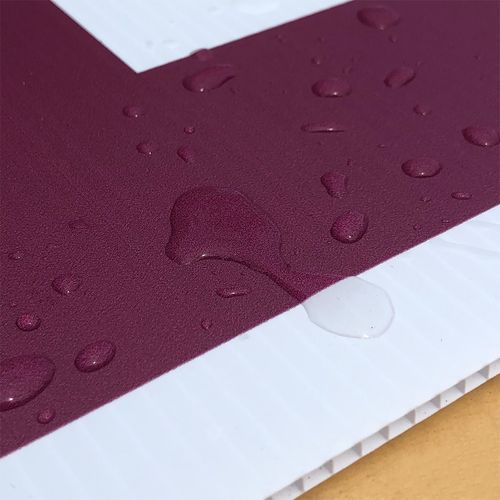 Waterproof corrugated plastic