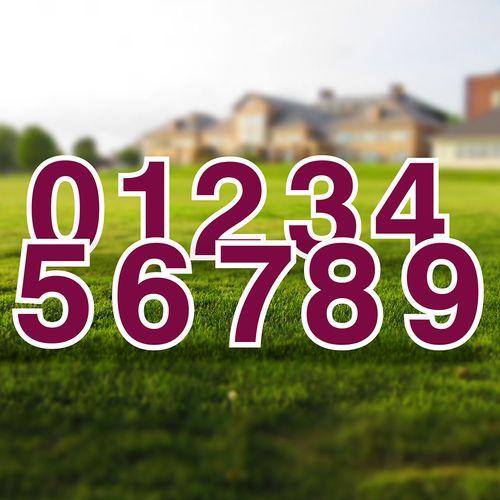 Yard Numbers Sign Set