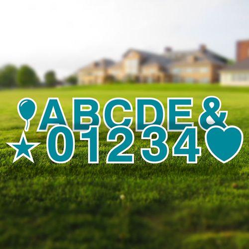 Yard Letter Alphabet & Number Set