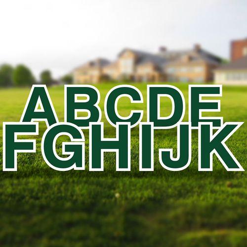 Yard Letter Alphabet Set