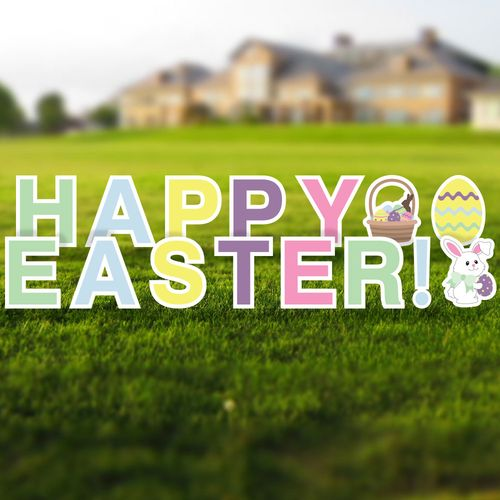 Happy Easter Yard Sign Letters