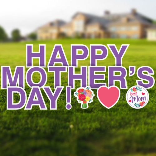 Happy Mother's Day Yard Letters