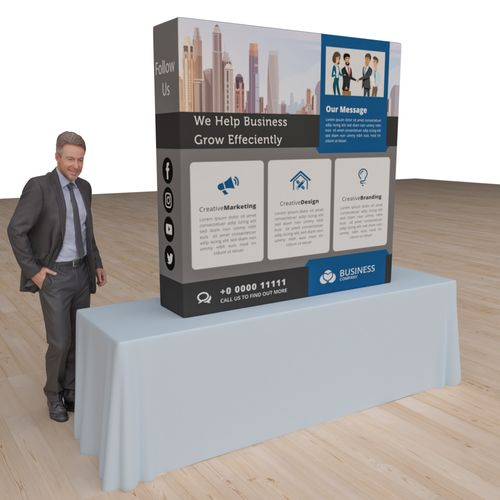 Pop Up Portable Booth 5.0ft x 5.0ft