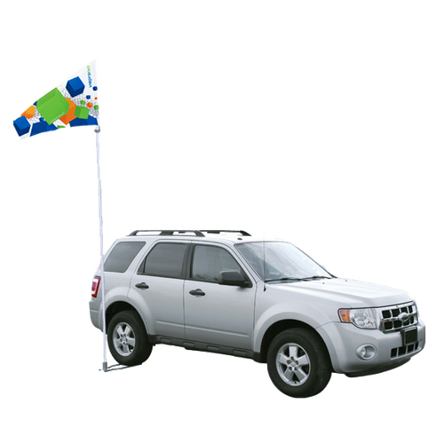 Portable Flagpole used with Car Base Standard