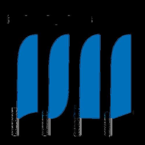 Choose from four unique flag edges