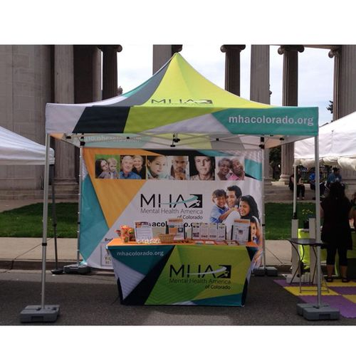 Your logo or design can be printed all over on our tent walls to really make a splash