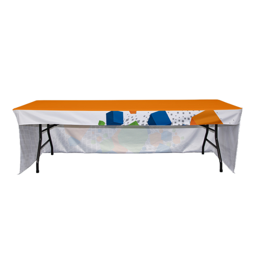 3-Sided Coverage Table Throw with All Over Print