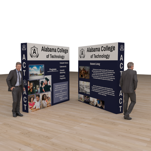 4-Sided Pop Up Portable Booth with sides