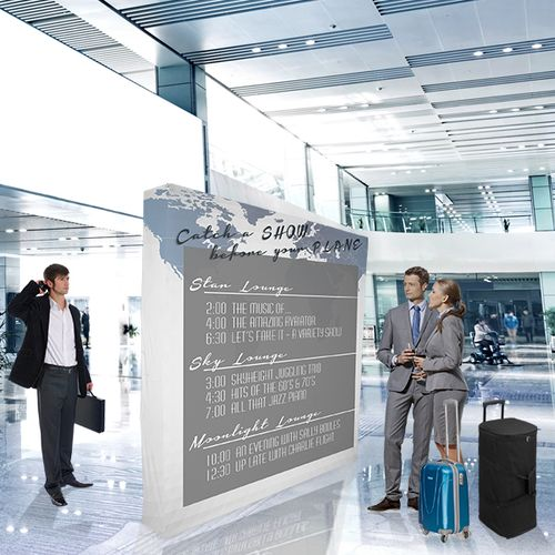 Great for use in airports and other areas with high foot traffic
