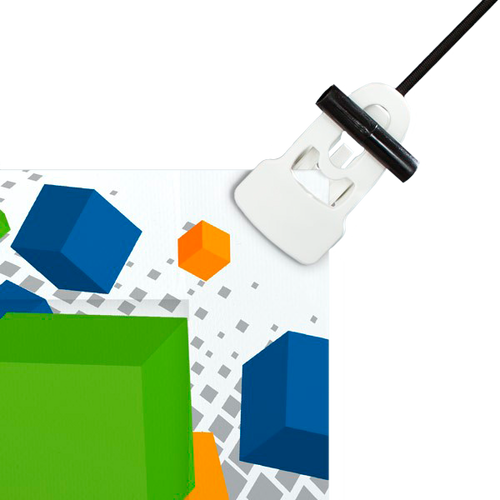 Use with Reusable Large White Banner Clips