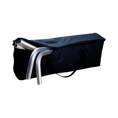 Includes padded carry bag for frame and print